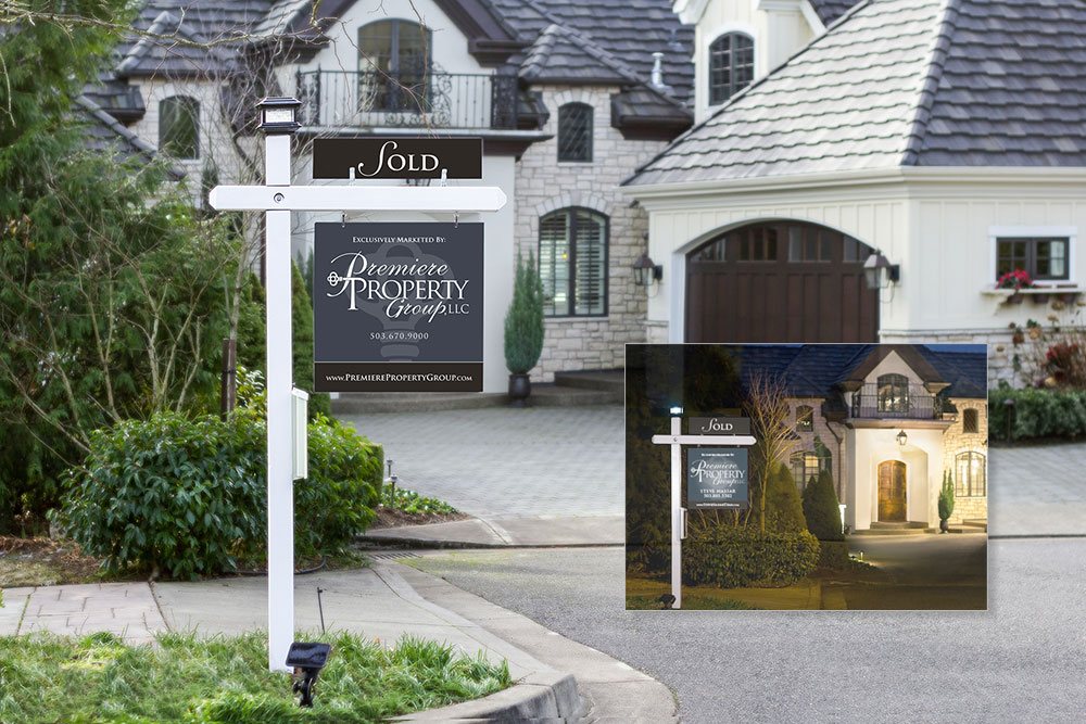 Drew Shane Home Sales Luxury and Commercial Portland Real Estate Agent Property Signage